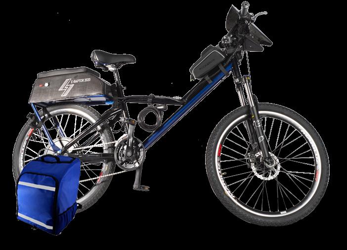 Bicicleta eléctrica E-Raptor food